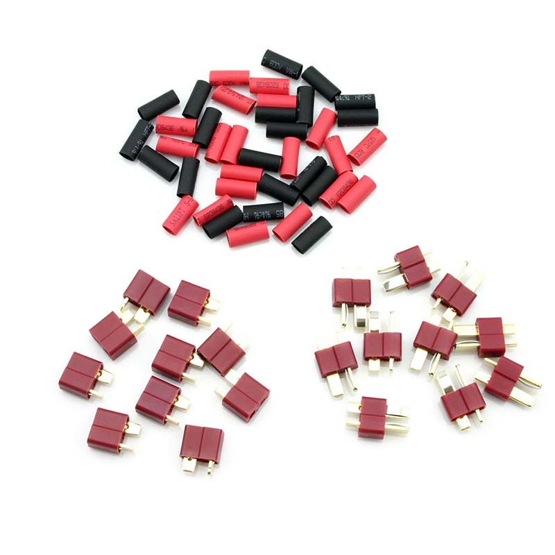 HobbyStar Dean's Connectors With Shrink Tubing, 10 Sets