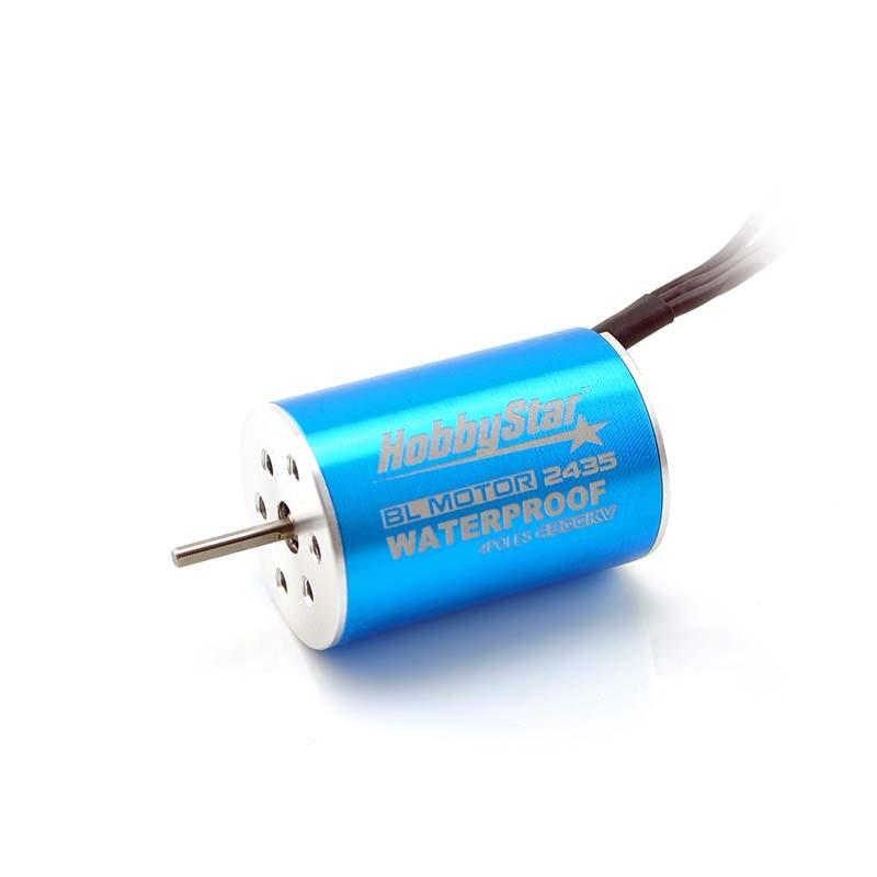 HobbyStar 2435 4-Pole Sensorless Brushless Motor, Waterproof