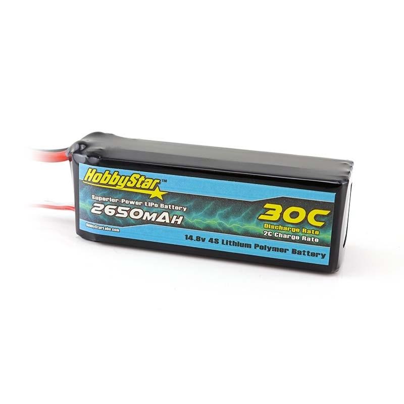 HobbyStar 2650mAh 14.8V, 4S 30C LiPo Battery