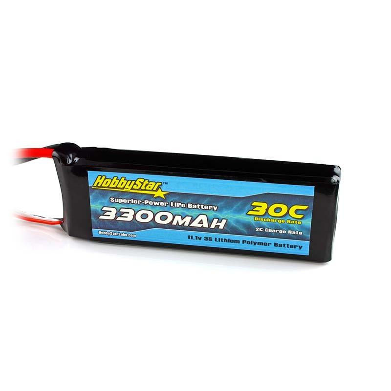 HobbyStar 3300mAh 11.1V, 3S 30C LiPo Battery