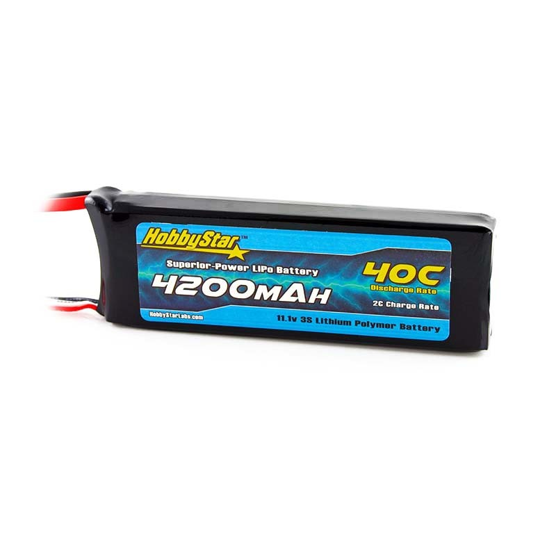 HobbyStar 4200mAh 11.1V, 3S 40C LiPo Battery