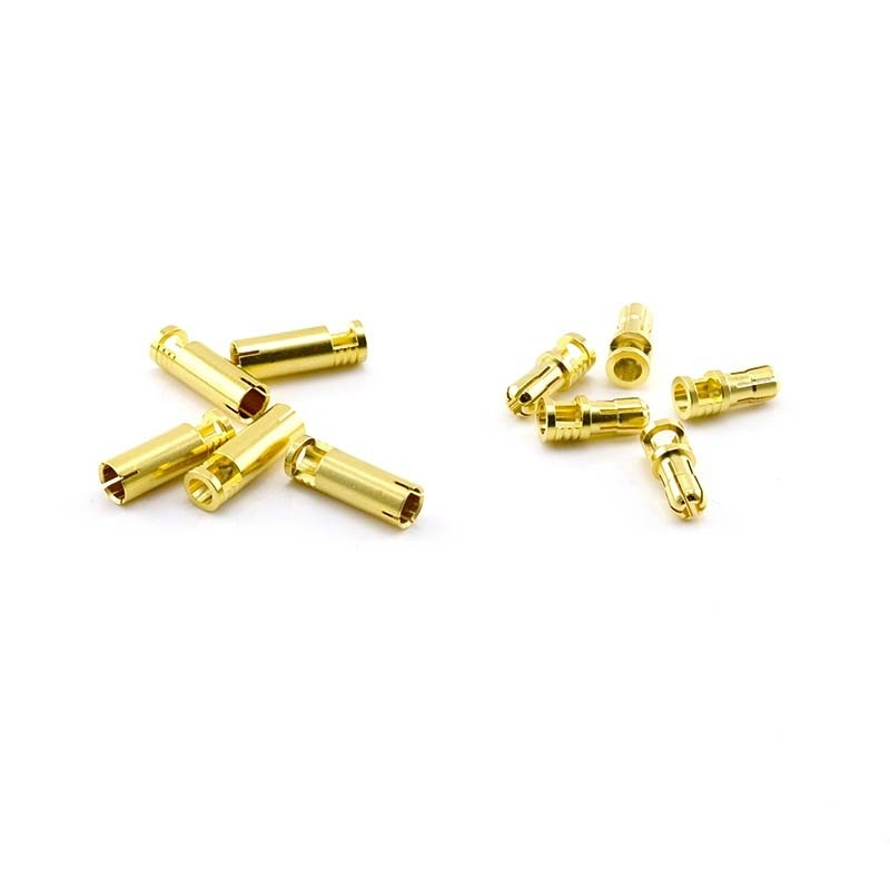 HobbyStar Bullet Connectors, V2, 4.0mm/Gold, 5 Sets
