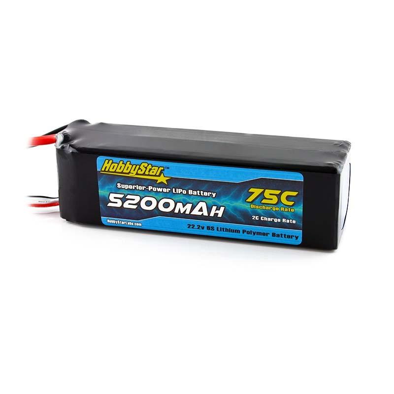 HobbyStar 5200mAh 22.2V, 6S 75C LiPo Battery
