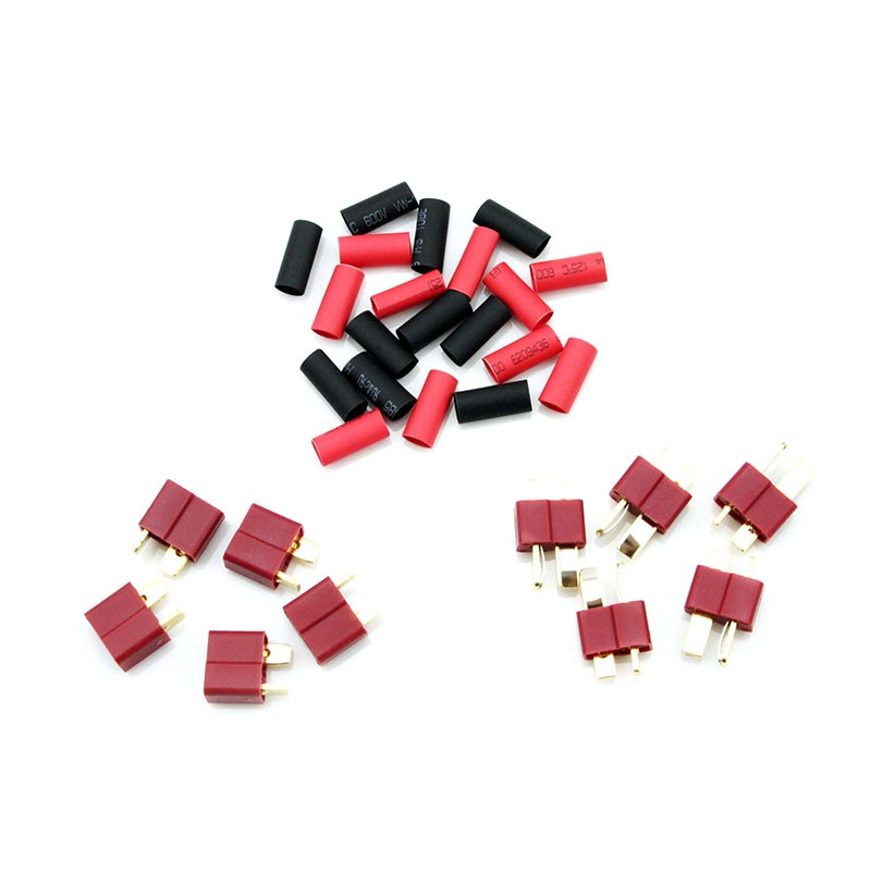 HobbyStar Dean's Connectors With Shrink Tubing, 5 Sets