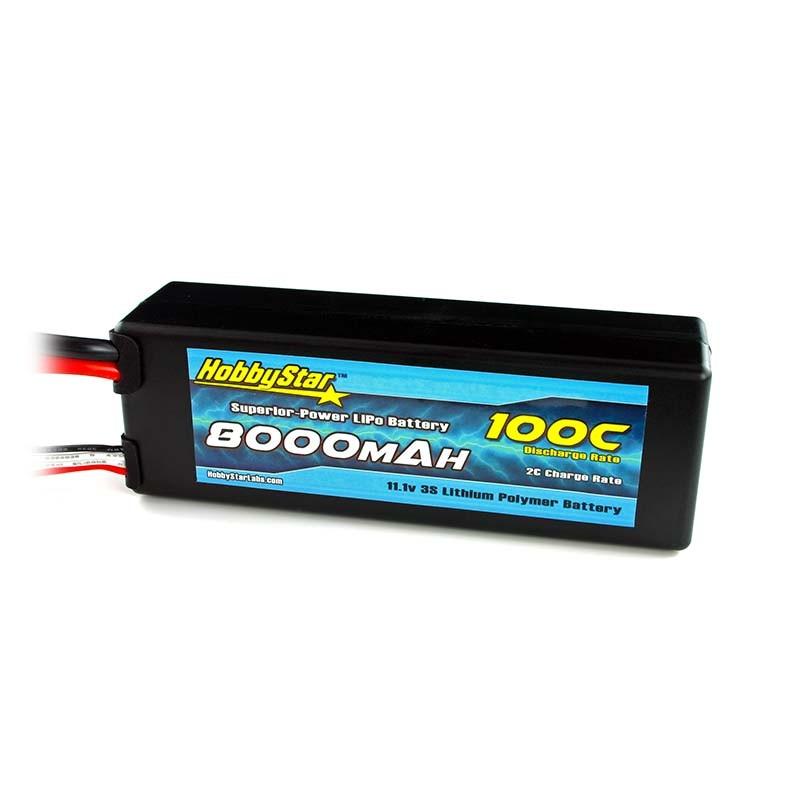 HobbyStar 8000mAh 11.1V, 3S 100C Hardcase LiPo Battery