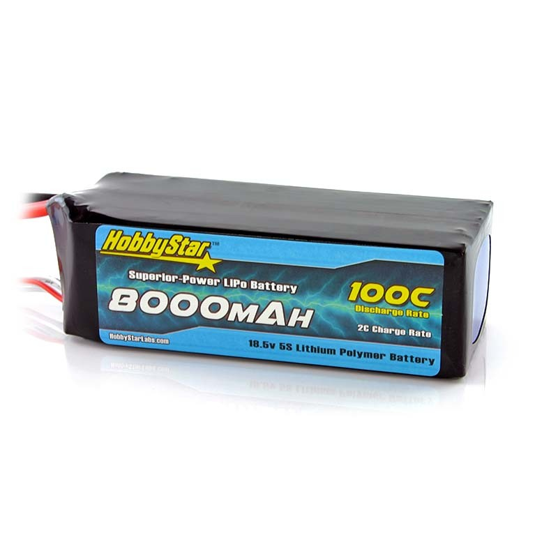 HobbyStar 8000mAh 18.5V, 5S 100C LiPo Battery