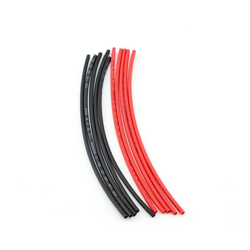 HobbyStar Heat-Shrink Tubing, 2mm, 5pcs. Red/Blk