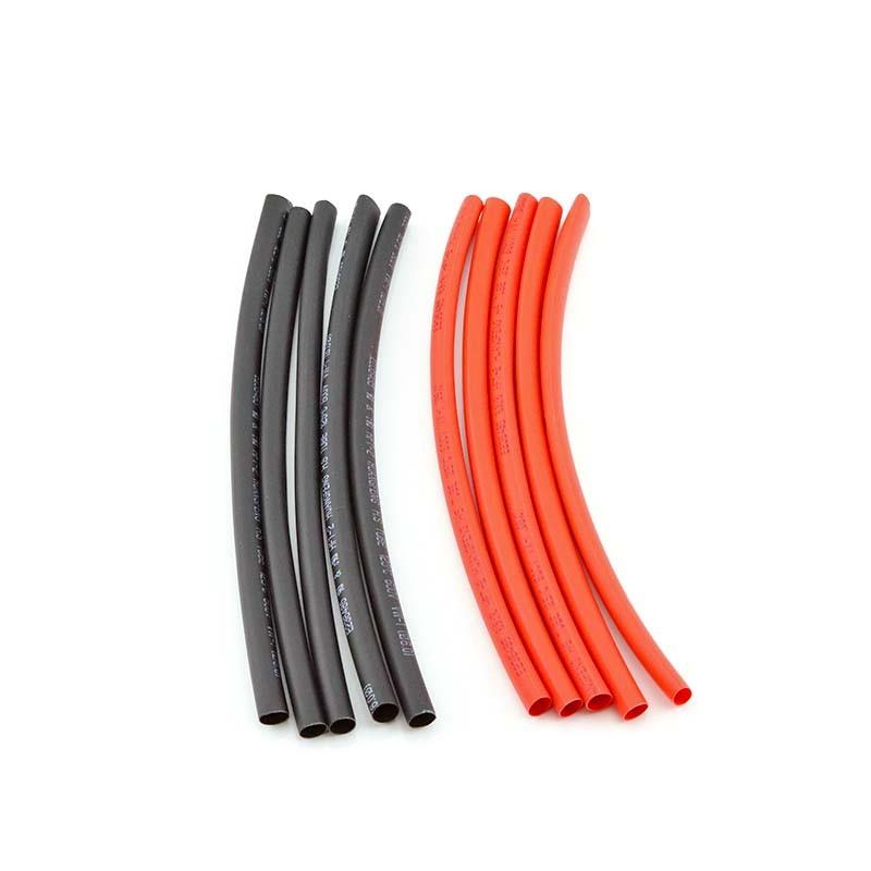 HobbyStar Heat-Shrink Tubing, 6mm, 5pcs. Red/Blk