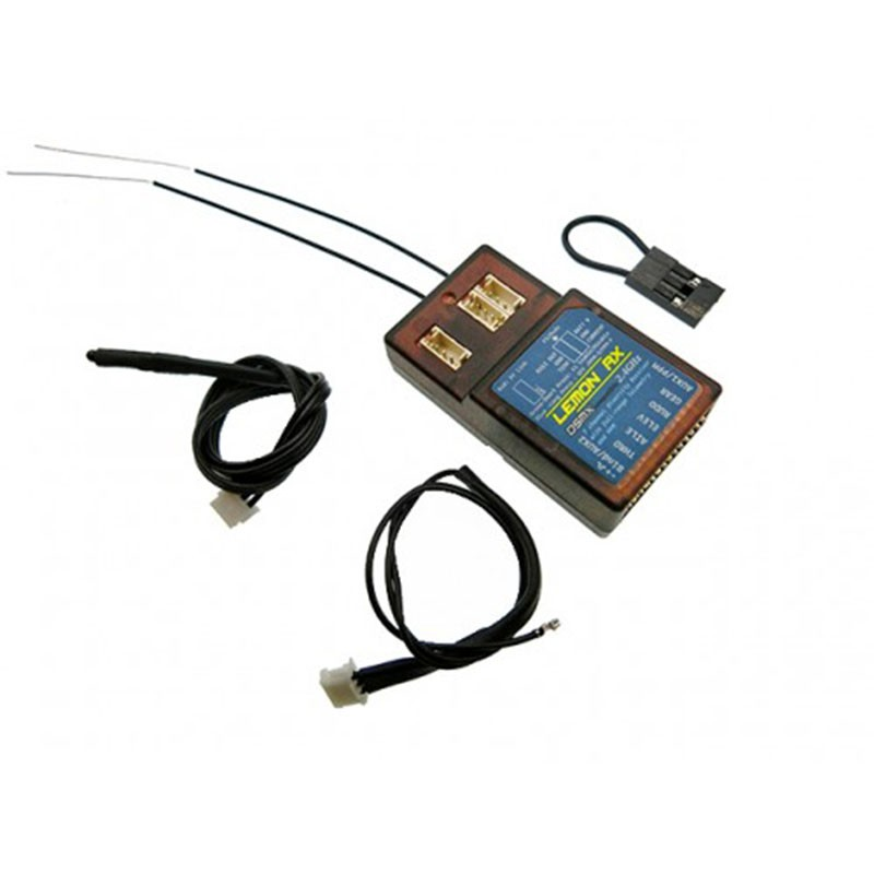 Lemon RX DSMX Compatible 7-Channel Full-Range Telemetry Receiver With Diversity Antenna + PPM LM0041