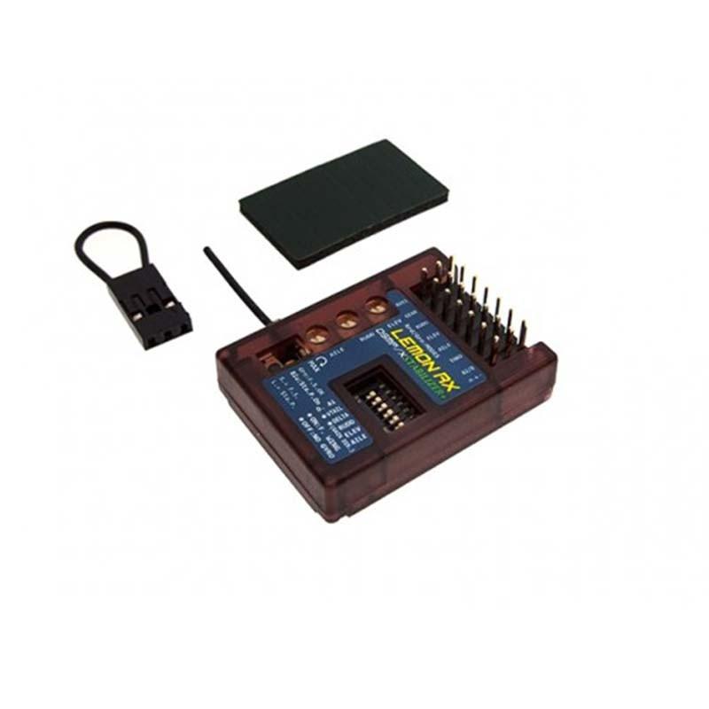 Lemon RX DSMP/X Compatible 7-Channel Receiver With Stabilizer PLUS,  (Top-Pin) LM0042