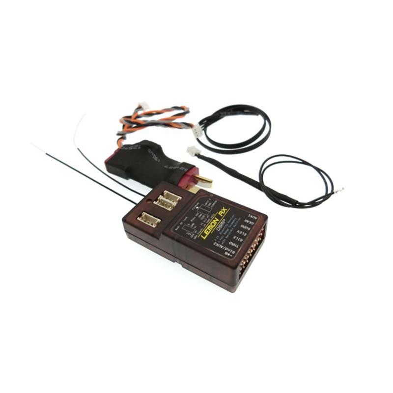 Lemon RX 7ch. Full-Range DSMX Telemetry System With Sensors LM0052, Deans