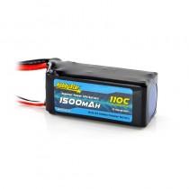 HobbyStar 1500mAh 14.8V, 4S 110C LiPo Battery
