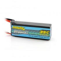 HobbyStar 2700mAh 11.1V, 3S 35C LiPo Battery