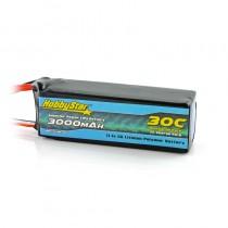 HobbyStar 3000mAh 11.1V, 3S 30C LiPo Battery