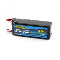 HobbyStar 3000mAh 14.8V, 4S 30C LiPo Battery