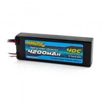 HobbyStar 4200mAh 11.1V, 3S 40C Hardcase LiPo Battery, Compact