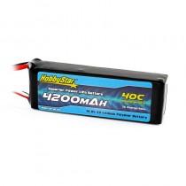 HobbyStar 4200mAh 14.8V, 4S 40C LiPo Battery