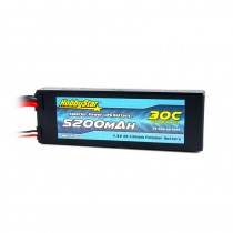 HobbyStar 5200mAh 7.4V, 2S 30C Hardcase LiPo Battery