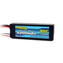 HobbyStar 5200mAh 11.1V, 3S 30C Hardcase LiPo Battery