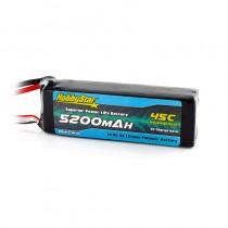HobbyStar 5200mAh 14.8, 4S 45C LiPo Battery