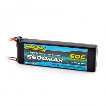 HobbyStar 5600mAh 11.1V, 3S 60C LiPo Battery, Fits Slash