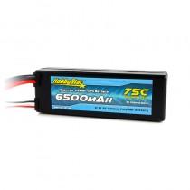 HobbyStar 6500mAh 11.1V, 3S 75C Hardcase LiPo Battery