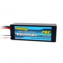 HobbyStar 6500mAh 14.8V, 4S 75C Hardcase LiPo Battery - Dean's