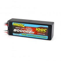 HobbyStar 8000mAh 11.4V, 3S HV 100C Hardcase LiPo Battery