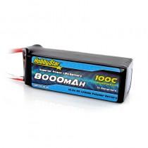 HobbyStar 8000mAh 14.8V, 4S 100C LiPo Battery