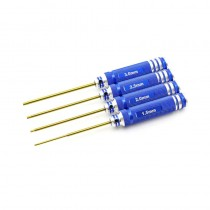 HobbyStar 4pc. Hex Driver Set, TiNi Coated, Metric