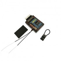 Lemon RX DSMX Compatible 7-Channel Receiver With Stabilizer and Dual-Diversity Antenna (End-Pin) LM0033