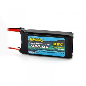 HobbyStar 1300mAh 7.4V, 2S 35C LiPo Battery