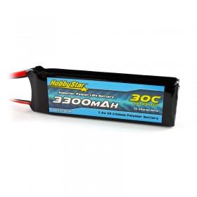 HobbyStar 3300mAh 7.4V, 2S 30C LiPo Battery