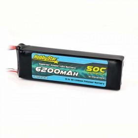 HobbyStar 6200mAh 11.1V, 3S 50C LiPo Battery